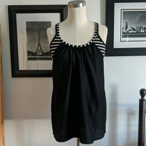 Athleta Black Striped Tank Size Small